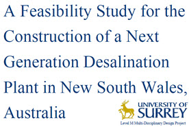 A Feasibility Study for the Construction of a Next Generation Desalination Plant in New South Wales, Australia