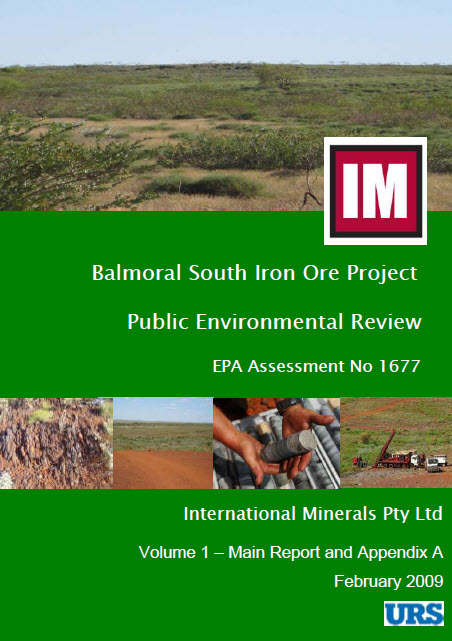 Public Environmental Review Balmoral South Iron Ore Project