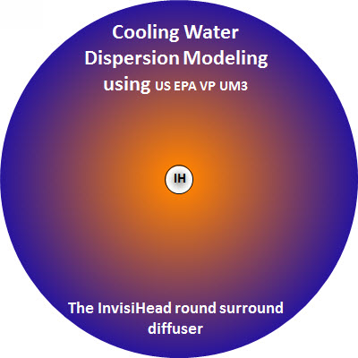 Cooling water dispersion modeling using the InvisiHead