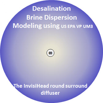 Seawater desalination brine dispersion modeling