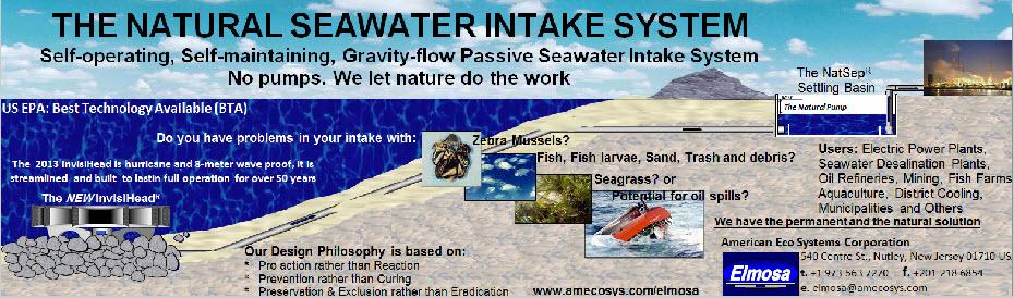 Elmosa Seawater intake system diagram